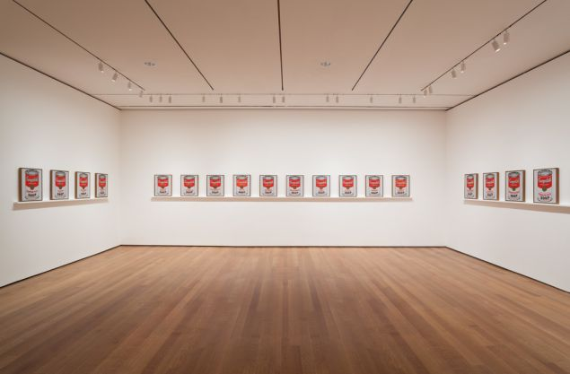 Andy Warhol's Soup Cans. (Photo: Courtesy of MoMA)