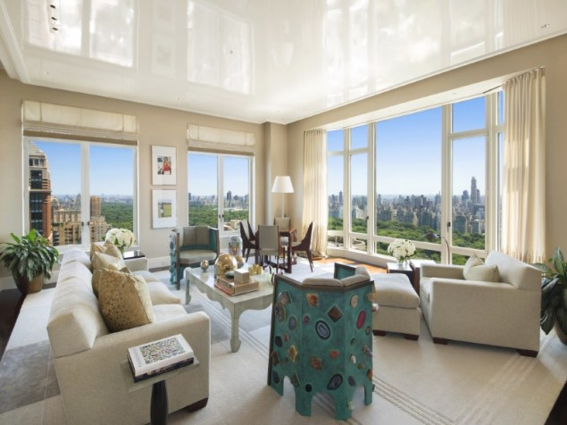 This top-floor apartment in 15 Central Park West is asking $33 million. (Sotheby's)