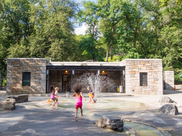 River Run playground in Riverside Park is largely traditional. (Céline Haeberly for Observer)