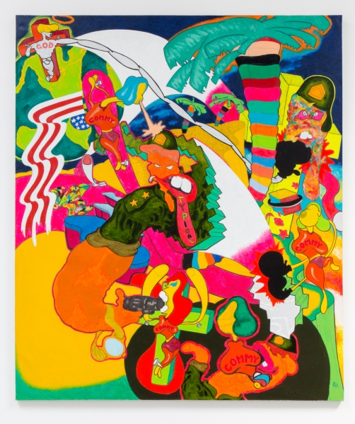 Peter Saul, Vietnam, 1966. Oil on canvas. 79 x 67 inches; 201 x 170 cm. © Peter Saul, Courtesy Matthew Marks Gallery.