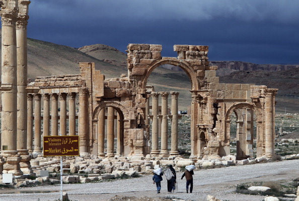 The ancient Syrian city of Palmyra.