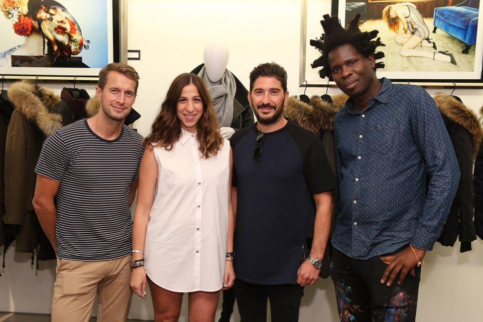 DJ Brendan Fallis, Elisa Dahan, Eran Elfassy, Bradley Theodore (Photo by Neilson Barnard/Getty Images for Mackage)