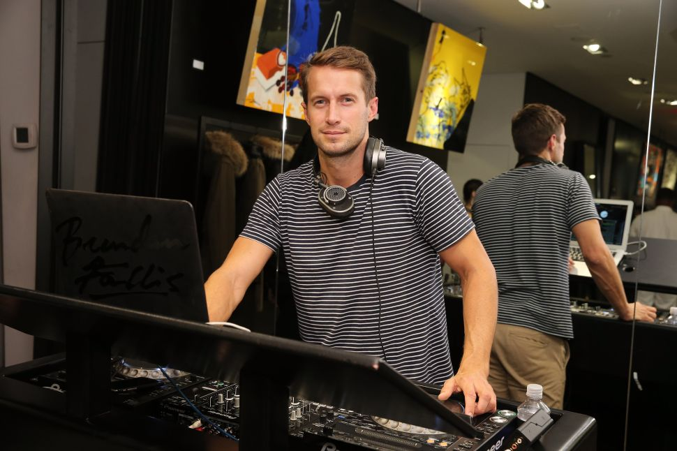 DJ Brendan Fallis (Photo by Neilson Barnard/Getty Images for Mackage)