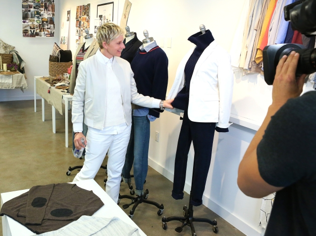 Ellen Degeneres and her collection (Photo: Courtesy)