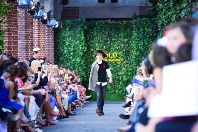 Ralph Lauren's Fall 2015 Children's show took place at the Central Park Zoo last night. (Photo: Patrick McMullan)