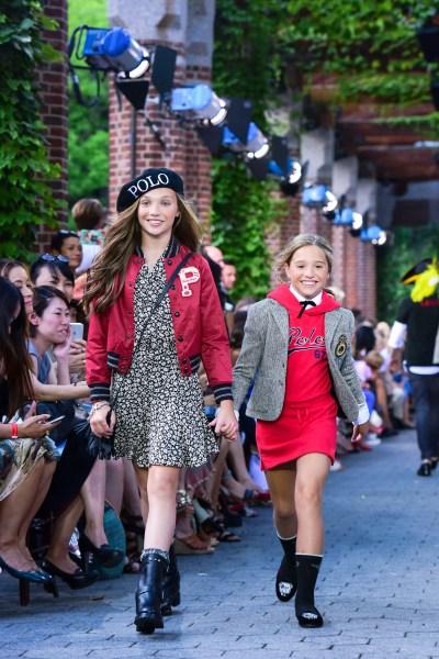 The Ziegler sisters in the Ralph Lauren runway show. (Photo: Patrick McMullan)