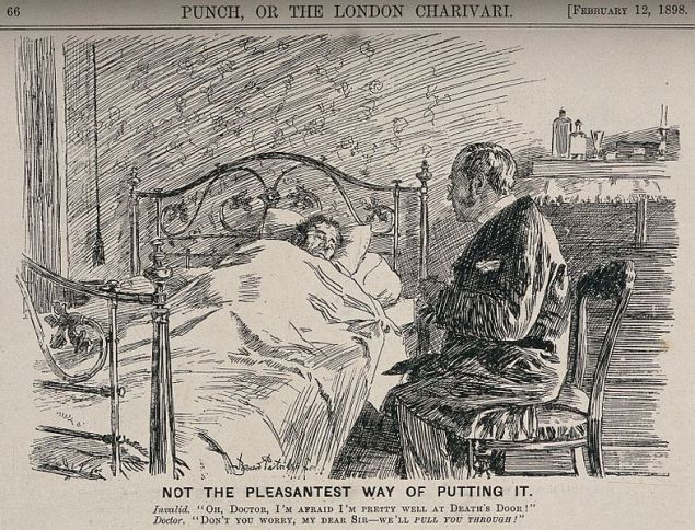 Is bedside manner a lost art (Wikimedia Commons).