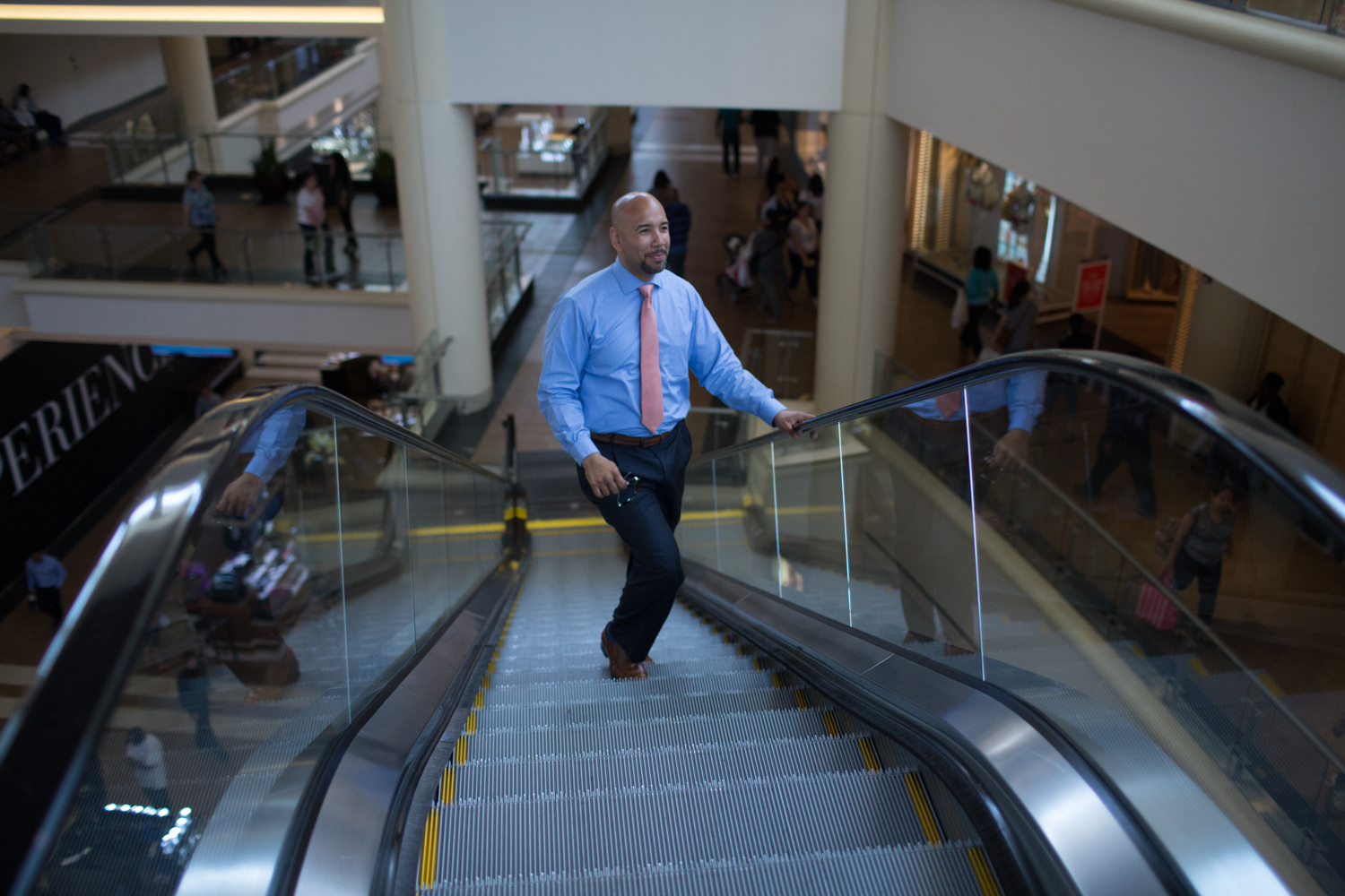 Bronx Borough President Ruben Diaz Jr. in the Mall At Bay Plaza in the Baychester section of the Bronx.