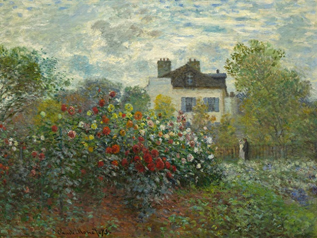 The Artist's Garden in Argenteuil (A Corner of the Garden with Dahlias), 1873, Claude Monet. (Photo: Courtesy of Philadelphia Museum of Art and the National Gallery of Art, Washington)