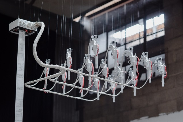 Another installation view of Artificial Killing Machine. (Photo: via artist's website, polygonfuture.com)