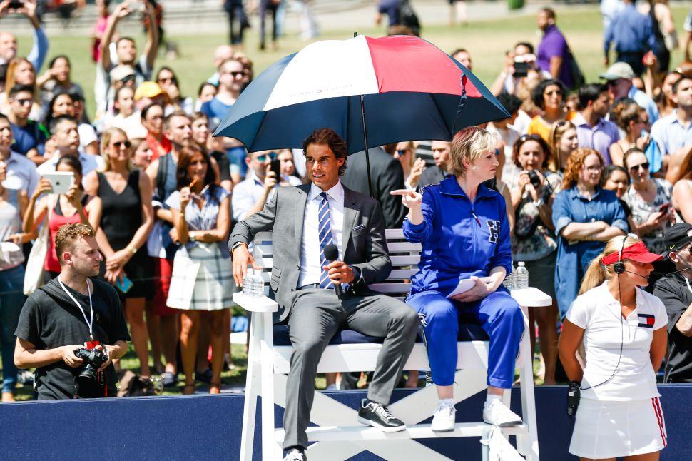 Rafael Nadal, Jane Lynch (Photo: BFA).