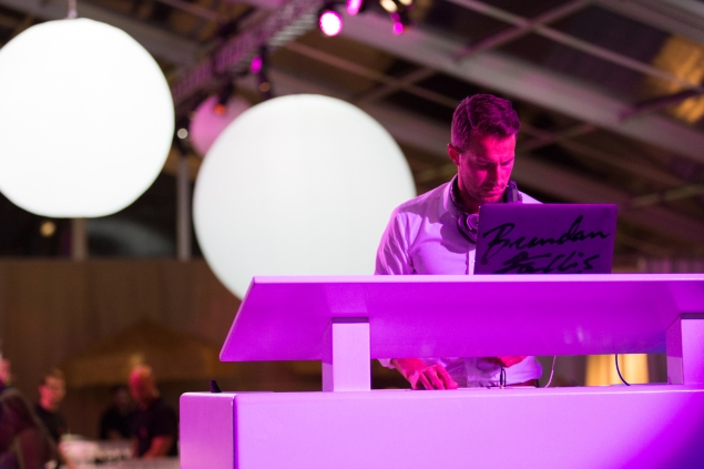 DJing in pink (Photo: Michael Blanchard for  AP Images)