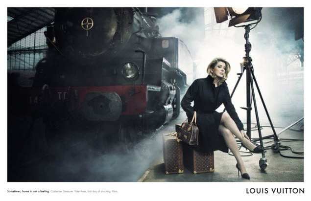 The photographer's award-winning images include this campaign for Louis Vuitton featuring Catherine Deneuve. (Photo: via Cinemazzi)