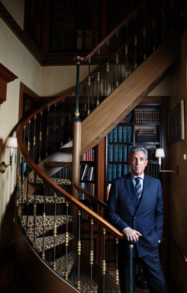 Charles Cohen at his home (Photo: Celeste Sloman for Observer)