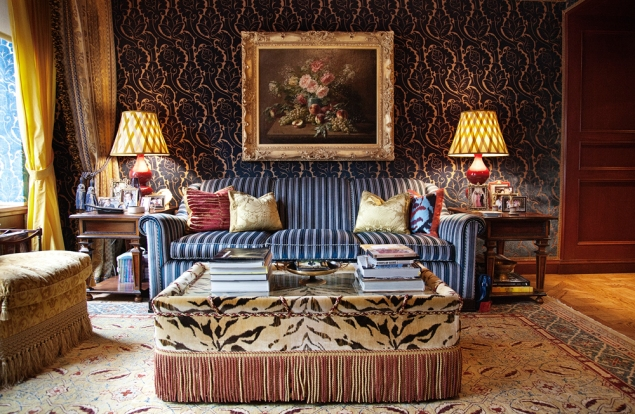 A sitting room designed by Jacques Garcia (Photo: Celeste Sloman for Observer)