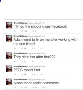 The alleged Virginia shooter's Twitter account, which has been suspended. (Photo: Screenshot)