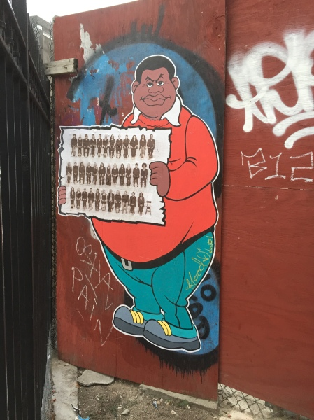 This stunning piece of street art at the corner of Houston and 2nd Ave depicts Bill Cosby's character Fat Albert holding the New York magazine cover that included 35 women who said they have been sexually victimized by Cosby. (Photo: New York Observer)