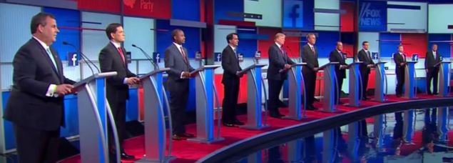 GOP debate on Fox News (Photo: Screenshot/Youtube)
