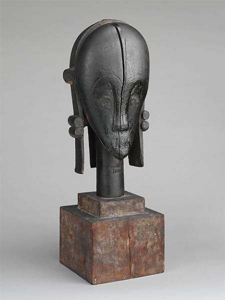 Sculptural Element from a Reliquary Ensemble: Head (The Great Bieri), Gabon, (19th-early 20th century). Gifted to the Met by Nelson Rockefeller. (Photo: The Met)
