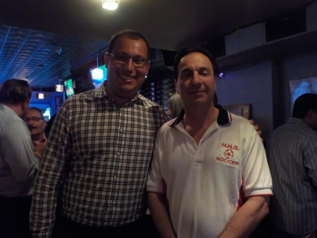 Peter Biancomano (left) and Freeholder Anthony Romano.