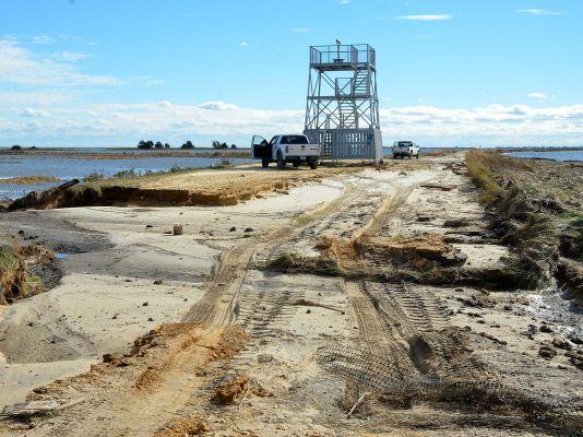 The Forsythe National Wildlife Refuge, where cleanup efforts have stalled