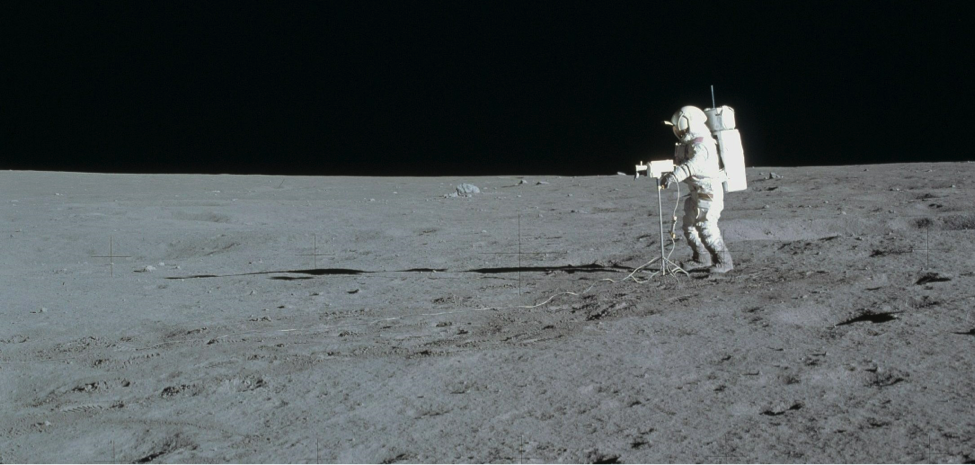 Astronaut Edgar Mitchell walks on the moon during the Apollo 14 mission. (NASA)