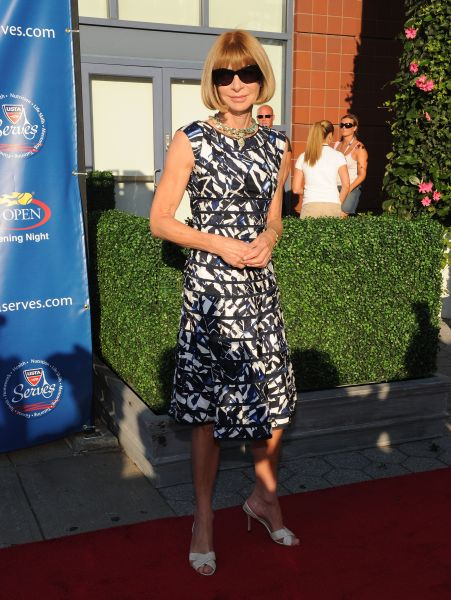Anna Wintour at the 2010 U.S. Open Opening Night Ceremony. (Photo : Jason Kempin/Getty Images)