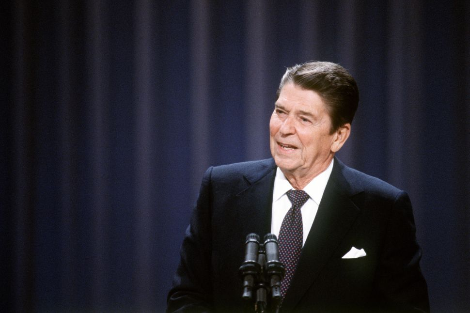 President Ronald Reagan in 1984. (AFP/Getty Images)