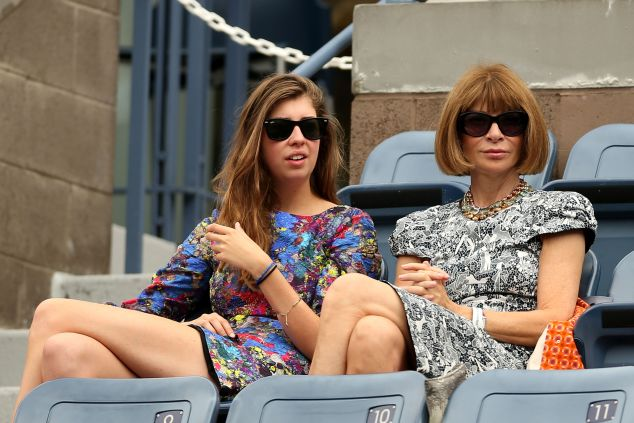 Anna Wintour and daughter Bee Shaffer on day 13 of the 2012 U.S. Open. (Photo: Matthew Stockman/Getty Images)