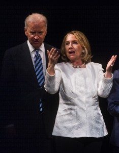 One reason Biden should run is that a competitive race would make Hillary Clinton a better candidate. (NICHOLAS KAMM/AFP/Getty Images)