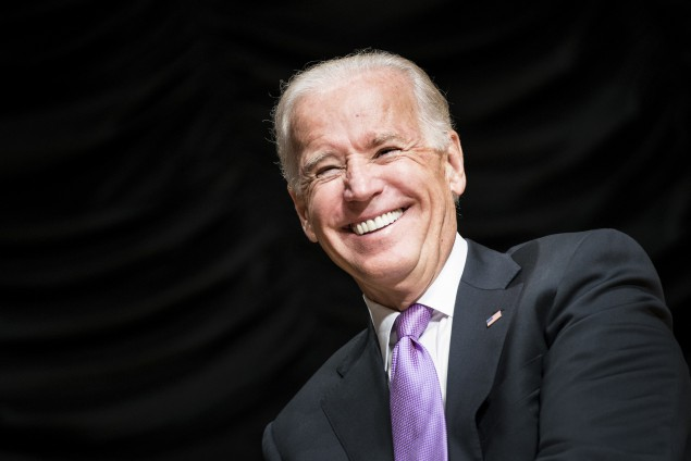 US Vice President Joe Biden smiles during a ceremony at the Ronald Reagan Building September 6, 2013 in Washington, DC. (BRENDAN SMIALOWSKI/AFP/Getty Images)