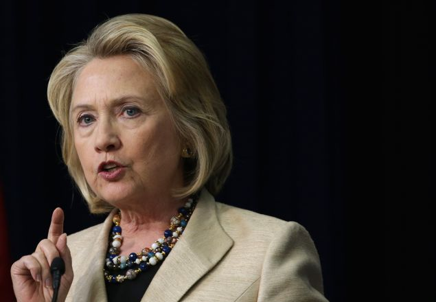 Ex-Secretary of State Hillary Clinton. (Photo: Alex Wong forGetty Images)