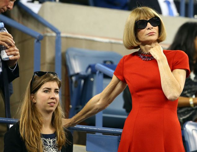Anna Wintour on day 1 of the 2014 U.S. Open. (Photo: Streeter Lecka/Getty Images)