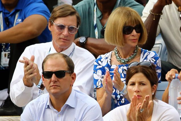 Anna Wintour on day 13 of the 2014 U.S. Open. (Photo: Al Bello/Getty Images)
