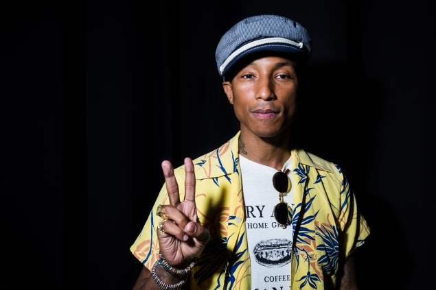 Pharrell Williams won two Grand Prix awards last year, one for a music video and the other for a line of recycled designer denim. (Photo: Getty)