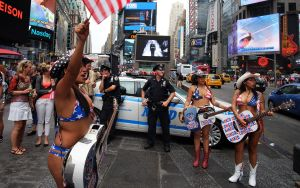 The NYPD are expected to be reassigned to Times Square by October (Photo: JEWEL SAMAD/AFP/Getty Images).