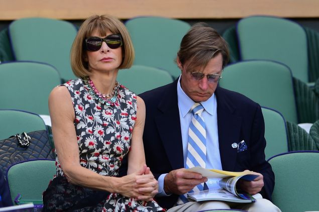 Anna Wintour on Day 11 of Wimbledon 2015. (Photo: Getty Images)