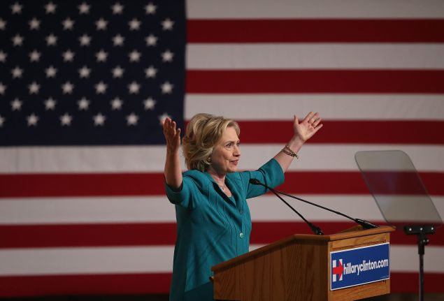 Former Secretary of State Hillary Clinton (Photo by Joe Raedle/Getty Images)