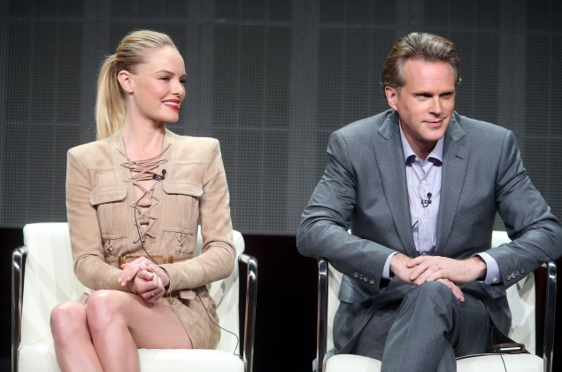 Kate Bosworth and Cary Elwes onstage during the 'Directing Funny' panel discussion at the DGA portion of the 2015 Summer TCA Tour at The Beverly Hilton Hotel on August 5, 2015 in Beverly Hills, California. (Getty)