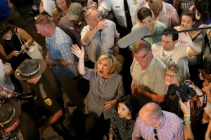 Hillary Clinton at the Iowa State Fair on August 15, 2015 in Des Moines, Iowa. (Photo by Win McNamee/Getty Images)