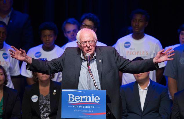 Sen. Bernie Sanders in Chicago (Photo by Scott Olson/Getty Images)