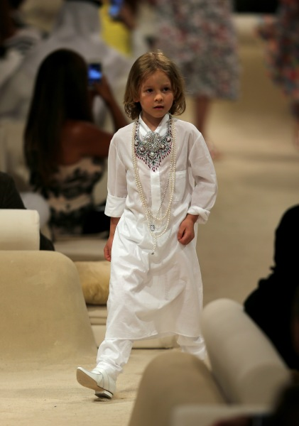 Hudson Kroenig in a 2014 Chanel Cruise runway show. (Photo: Francois Nel/Getty Images)