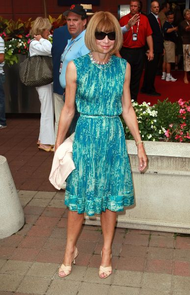 Anna Wintour at the 8th Annual USTA Serves' OPENing Gala during the 2008 U.S. Open. (Photo: Andrew H. Walker/Getty Images)