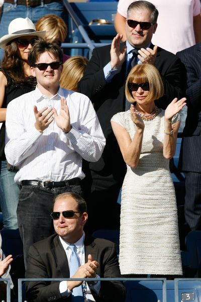 Anna Wintour on day 15 of the 2009 U.S. Open. (Photo: Matthew Stockman/Getty Images)