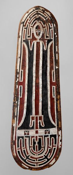 One of only two dozen remaining Grere'o Shields, (early to mid–19th century) from the Solomon Islands. (Photo: The Met)
