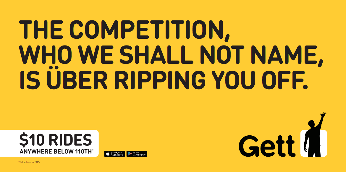 An image from Gett's NYC ad campaign. (Photo: Gett)