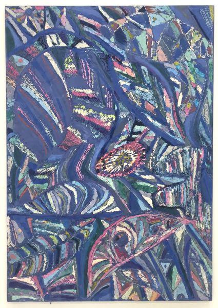 Blue Leaves by Johannes VanDerBeek. (Photo: Courtesy of Halsey McKay Gallery)