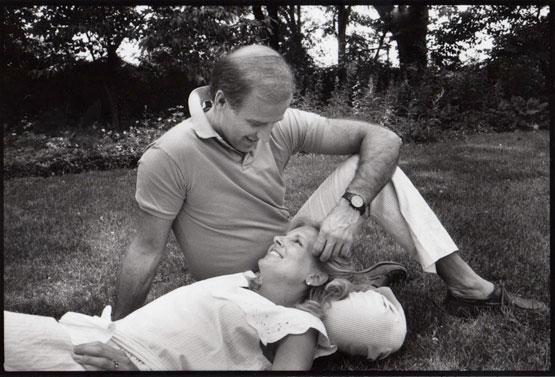 Joe and Jill Biden photographed by Jill Krementz on June 9, 1986 at the Biden home in Wilmington, Delaware.