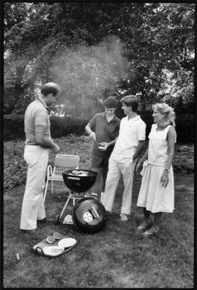 Joe, Hunt, Beau and Jill Biden photographed by Jill Krementz on June 9, 1986 at the Biden home in Wilmington, Delaware.