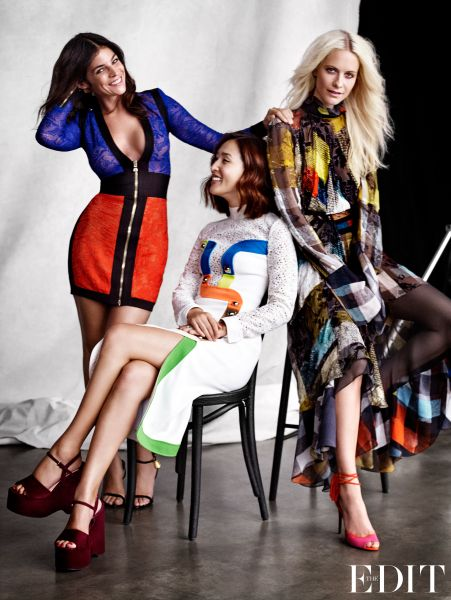 Julia Restoin Roitfeld, Nicole Warne and Poppy Delevingne, photographed ...